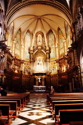 """Santa Maria de Montserrat Abbey"" Montserrat Mountain"